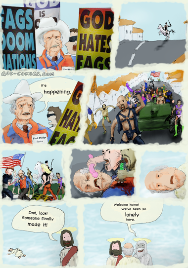 Fags Doom Nations, or Fred Phelps Gets a Banger in the Mouth